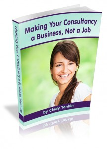 cindy tonkin making your consultancy a business not a job cover